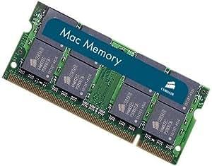 Corsair VSA4GSDSKIT667C4 Mac Memory 4GB 2 X 2GB PC2-5300 667MHz 200-Pin SODIMM Memory for Apple Laptops