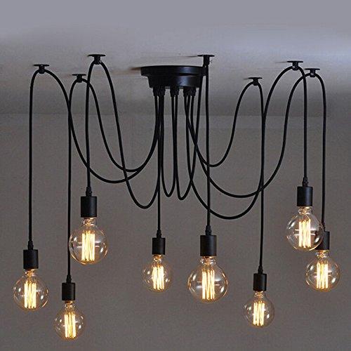 luces inicio deco vintage diy industrial accesorio de la lmpara colgante de luz retro lmpara de techo de la lmpara de araa luces e base