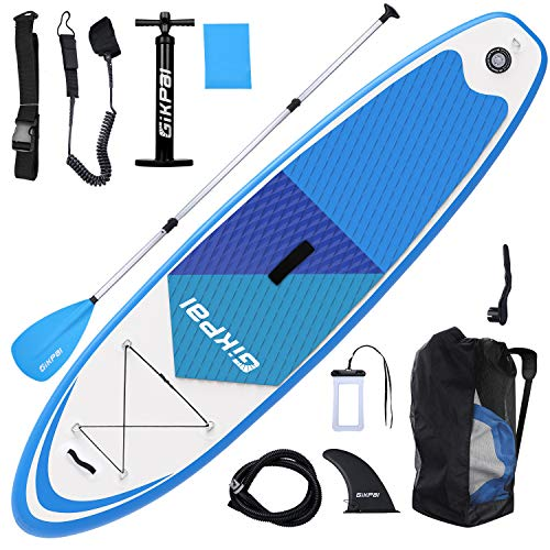 Fostoy Inflatable Stand Up Paddle Boards, 6 Inchs Thick Paddle Board with Premium SUP Accessories for Youth & - Paddle Yj