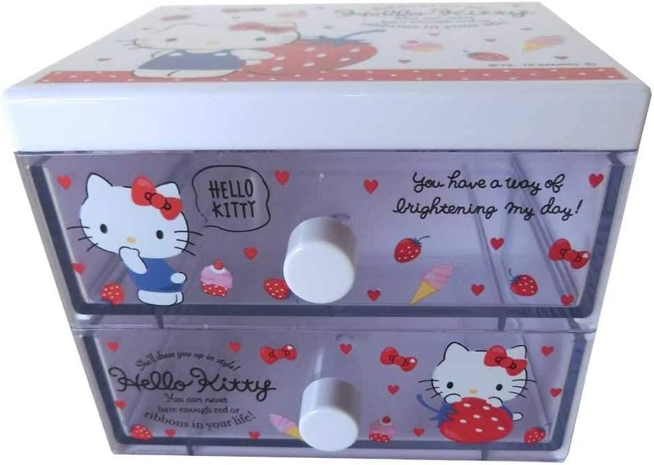 2019Ss Sanrio Hello Kitty Desktop Storage Character Chest Mini