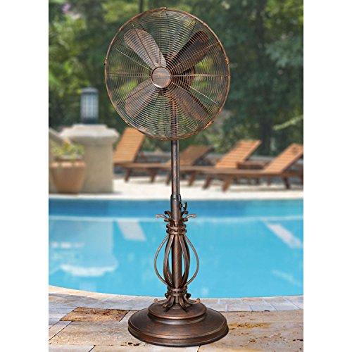 "CC Home Furnishings 50"" Extravagant Prestigious Adjustable Oscillating Outdoor Standing Fan"