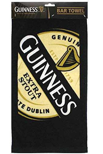 "Guinness Extra Stout - 1759 Label Bar Towel 19""x9.5"" 100% Cotton"