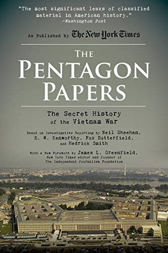 Book cover from The Pentagon Papers: The Secret History of the Vietnam War by Neil Sheehan