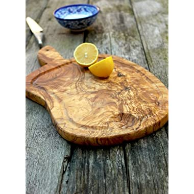 Rustic Olive Wood Chopping / Serving / Cutting / Cheese / Presentation Board - Length 15  x Width 8  x Depth 0.75