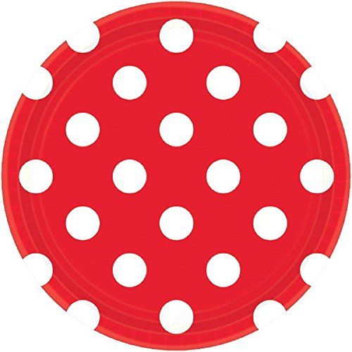 (Amscan 541537.4 Dots Round Plates Party Supplies, 7