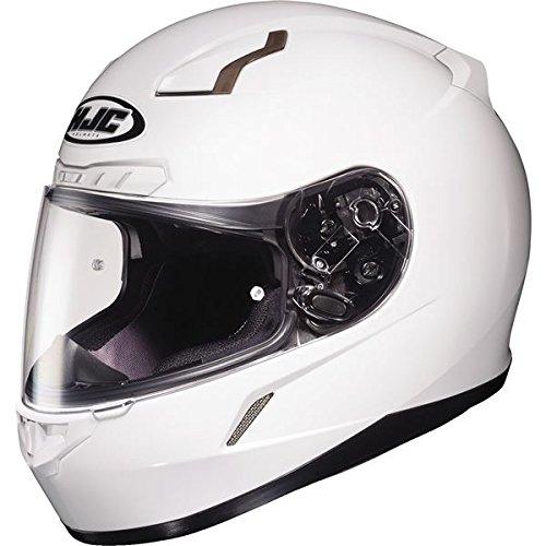 HJC Solid Mens CL-17 Full Face Motorcycle Helmet - White / 3X-Large Plus (09 Face Helmet Full)