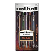 Uni-Ball 207 Retractable Medium Point Gel Pens, 5 Colored Ink Pens (1838294)