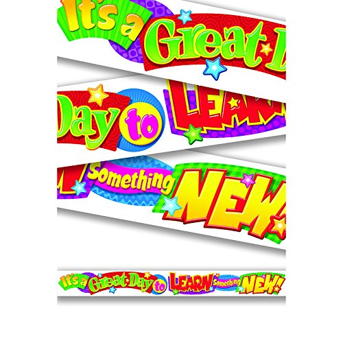 """Trend Enterprises """"It's a Great Day to Learn Something New!"""" Banner (T-25045)"""