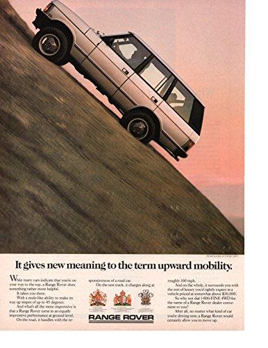 (Magazine Print Ad: Silver 1987 Range Rover,