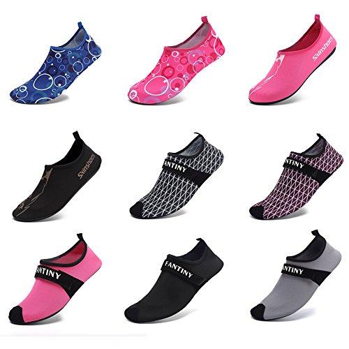 CIOR Männer Frauen und Kinder Quick-Dry Wasserschuhe Leichte Aqua Socken Für Beach Pool Surf Yoga Übung 01.grau