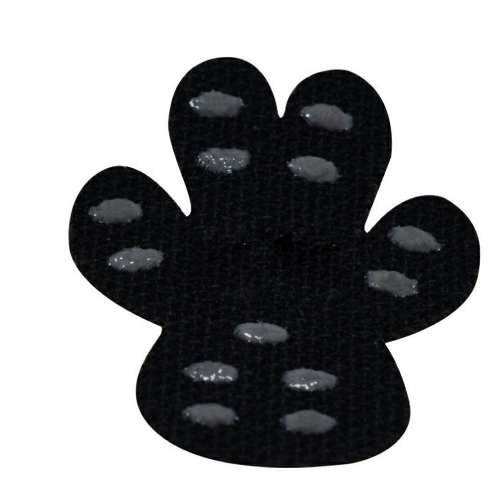 MUJING Dog Paw Protector Traction Pads Pet Paw Protectors Disposable Self Adhesive Shoes Booties Replacement with 400 Counts, 100 Sets for 4 Paws,Black,M