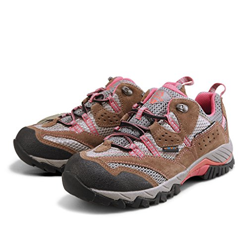 HKL829F Brown Trekking Hiking Rose Shoes Suede Backpacking Outdoor Clorts Waterproof Shoe Leather Women's SvHq1H