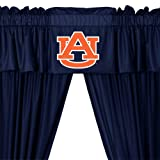 NCAA Auburn Tigers 5pc Long Curtain-Drapes Valance Set