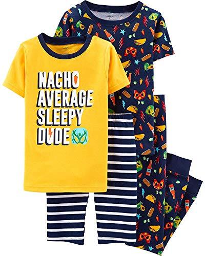 Carter's Boys Snug Fit Cotton PJs Pajamas (Yellow Nachos, 12)