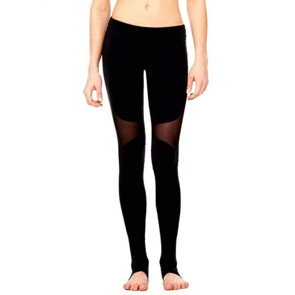 WYLYJTZ Frauen Sexy Yoga Hosen Schwarz Mesh Hohe Taille Sportbekleidung Gym Leggings Für Fitness Sport Leggins Kleidung Laufbekleidung Neu