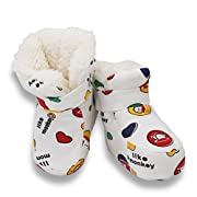LUWU Baby Boy Girls Pure Cotton Snow Boots Warm Winter Infant Newborn Toddler Crib Shoes (Monkey)