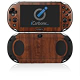 iCarbons Dark Wood Vinyl Skin for PS Vita Slim (2000) Playstation