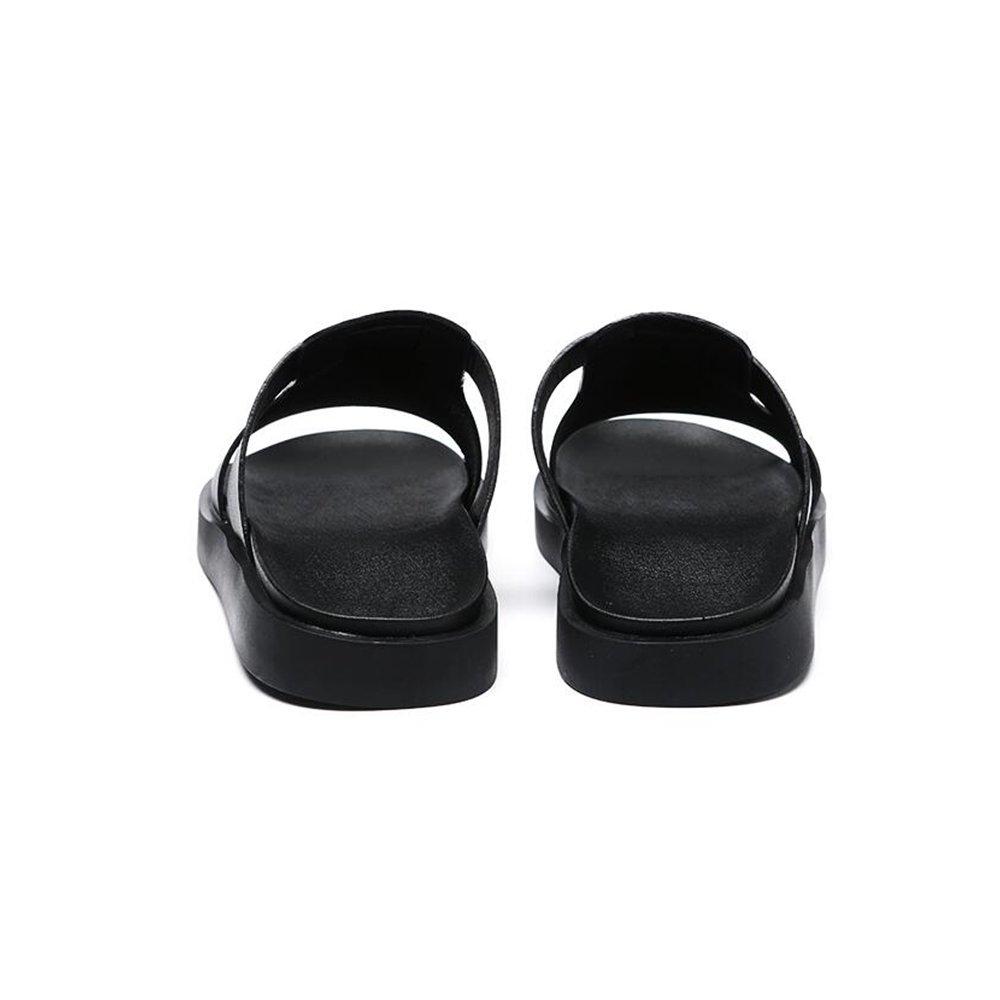 YQQ-Männer Schuhe Sandalen Strandschuhe Hausschuhe Lässige Schuhe Sommer- Männliche Hausschuhe Strandschuhe Rutschfest Äußerer Verschleiß Jugend Gemütlich Atmungsaktiv (Farbe : Schwarz, Größe : EU38/UK5.5) Schwarz 86a8d6