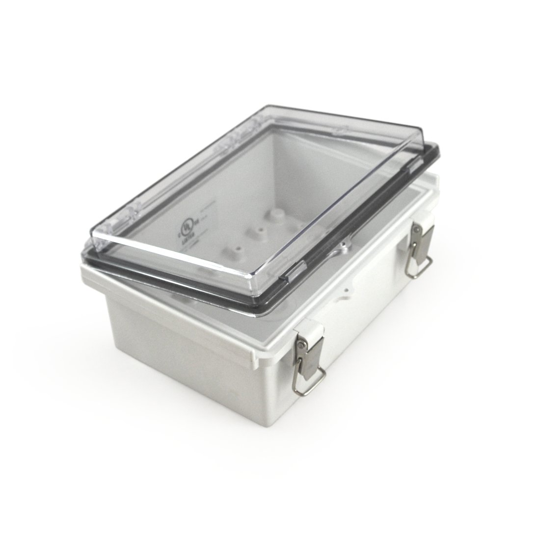 """Watertight Enclosure with Hinged and Latching Lid - UL Listed - 5.32"""" x 7.28"""" x 3.35' EKM Metering Inc"""