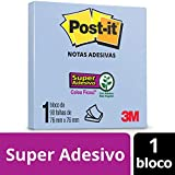 Bloco de Notas Super Adesivas Post-it Azul 76 mm x 76 mm - 90 folhas