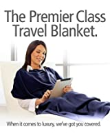 Travelrest 4-in1 Premier Class Travel Blanket with Pocket - Cover Shoulders - Soft and Luxurious (#1 BEST SELLER) Stuff Sack Included