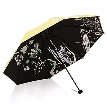 HAN-NMC Paraguas Paraguas Plegable,Amarillo
