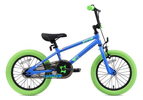 3fdee25a60 BIKESTAR Bicicletta Bambini 4-5 Anni da 16 Pollici ☆ Bici per Bambino et  Bambina BMX con Freno a retropedale et Freno a Mano ☆ Blu & Verde:  Amazon.it: ...