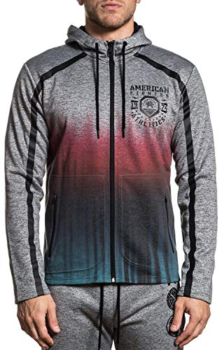 American Fighter Hathaway Long Sleeve Sport Graphic ip Hood Jacket For Men By Affliction