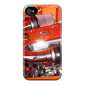 4/4s Scratch-proof Protection Case Cover For Iphone/ Hot Engines Motor Phone Case