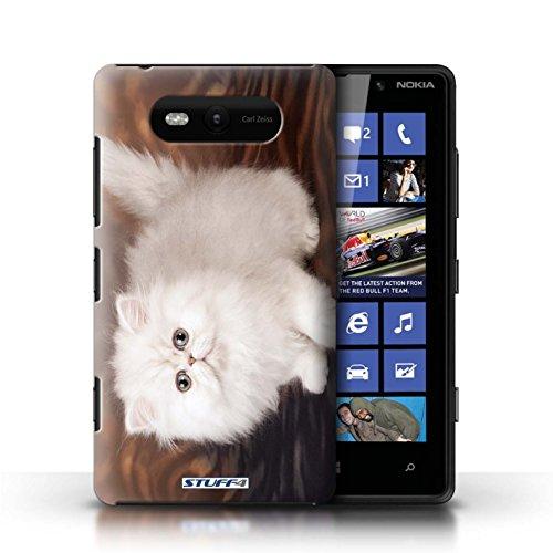 Etui / Coque pour Nokia Lumia 820 / Blanc et moelleux conception / Collection de Chatons mignons