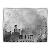 "Kess InHouse Alison Coxon ""The City Never Sleeps"" Dog Blanket, 60 by 50-Inch"