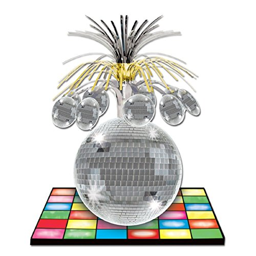 Disco Ball Centerpieces - Club Pack of 12 Multi-Colored Dance