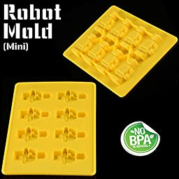 Americas Best Buys 8-Pack Silicone Candy Molds and Ice Mold for Lego Lovers with Recipe eBook