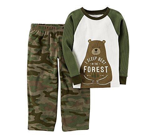 Carter's Boys' 12M-14 2 Piece Bear Fleece Pajamas 6