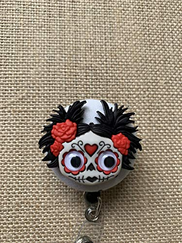 Zombies Retractable ID Badge Holder - Badge Reel Clip - Your Choice of Zombie (Zombie Badge Reel)