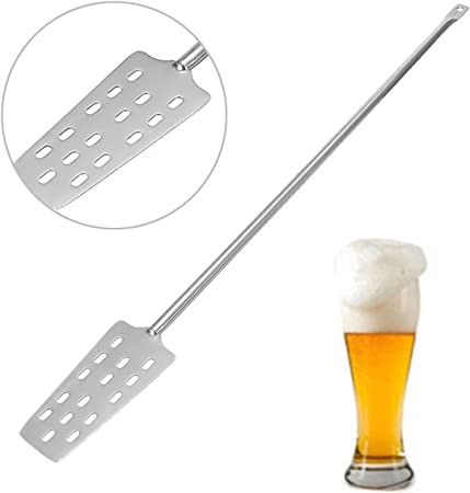 Moligh doll Stainless Steel Wine Stirrer Paddle for Home Brew Making Optimal Mixing