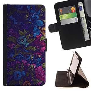 Jordan Colourful Shop - colorful flowers wallpaper fabric design pattern For Sony Xperia m55w Z3 Compact Mini - < Leather Case Absorci????n cubierta de la caja de alto impacto > -