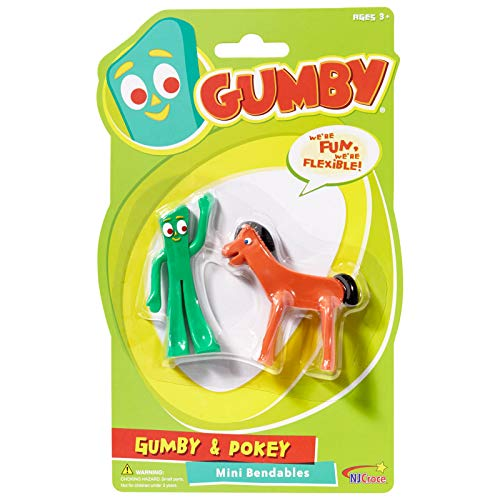 NJ Croce Gumby & Pokey Mini Bendable Pair -