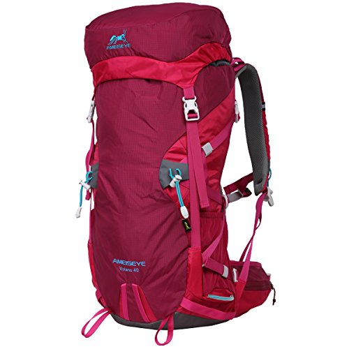 Eshow Sports 40L with a New Limited Edition Color For Outdoor Hiking Travel Climbing Camping Mountaineering with Waterproof Backpack Cover For Men/Women