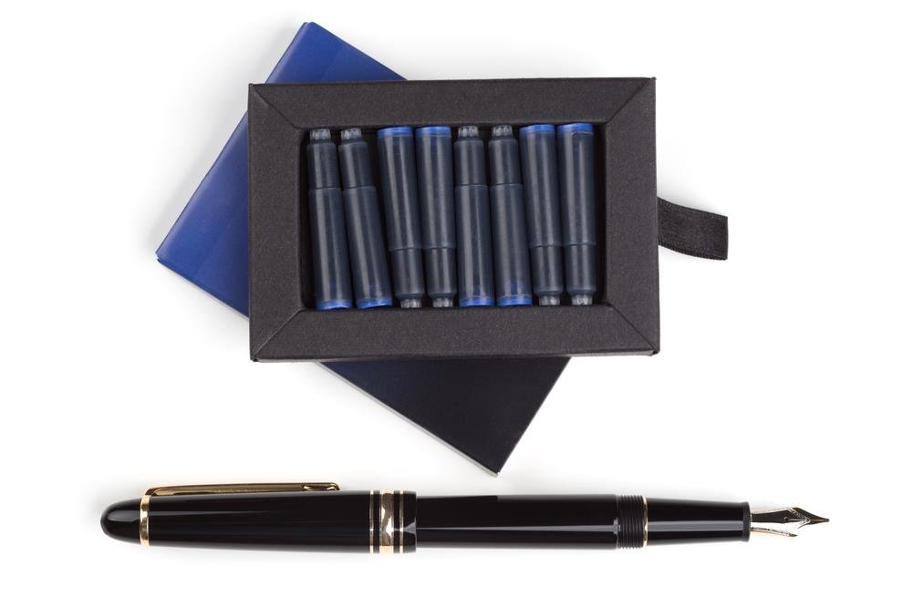 Dryden Fountain Pen Ink Cartridges ✮ SET OF 24: 12 BLACK & 12 BLUE ✮ Short International Standard Size ✮ Disposable and Generic Ink Refill Cartridges ✮ Perfect for Calligraphy by Dryden Designs (Image #7)