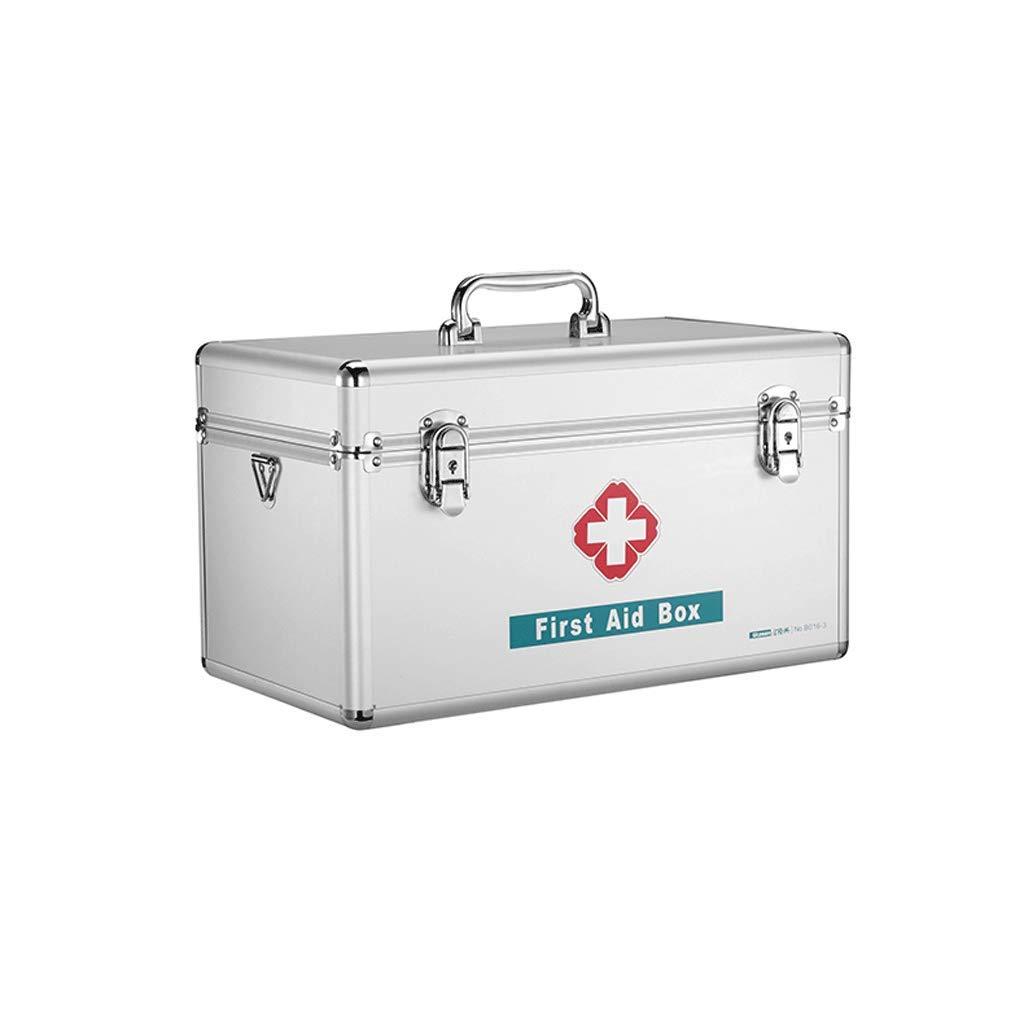 SLH 家族応急処置キットアルミ合金医学の箱医療外来医学の箱 (Size : L) Large  B07KFGL8HZ