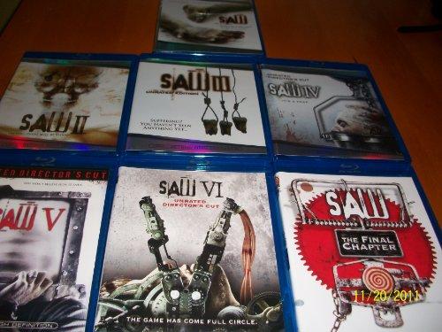 Saw, SawII, SawIII, Saw IV, Saw V, Saw VI & Saw Final Chapter