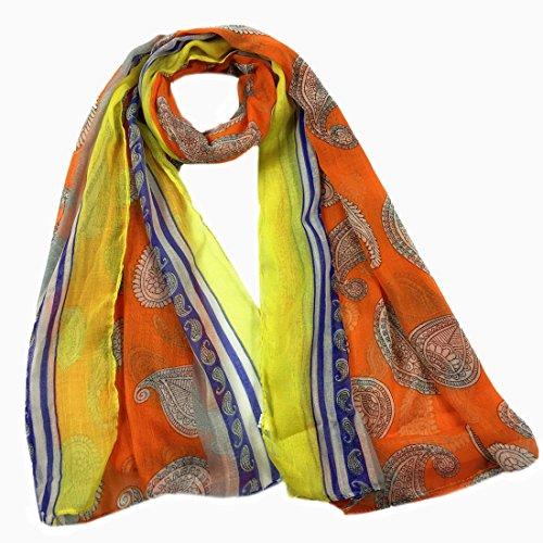 - Scarf For Women Clearance,Farjing Women Print Long Soft Wrap Shawl Scarves Scarf (Free Size,Orange)