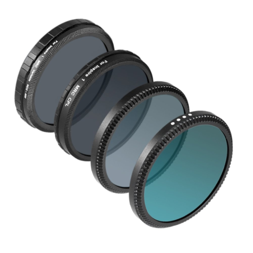 Neewer for DJI OSMO /OSMO Plus / Inspire 1, Multi-coated 4 Pieces Filter Kit: UV Filter + CPL Filter + ND16 Filter + ND Fader Adjustable ND2-ND400 Filter