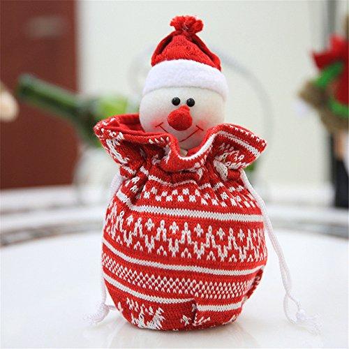 Knitting Stereo Christmas Apple Bag Christmas Gift Bags Christmas Candy Bags