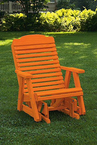Pressure Treated Pine Outdoor Traditional Rocker Amish Made USA-True Cedar Stain