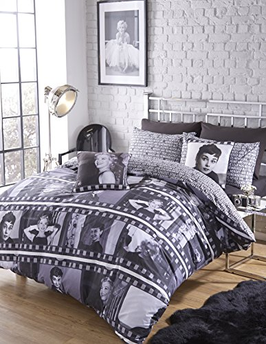 Twin Uk Single Stars Hollywood Audrey Hepburn Marilyn Monroe Film Reel Reversible Cotton Blend Duvet Comforter Cover Set Buy Online In Dominica At Dominica Desertcart Com Productid 15542675