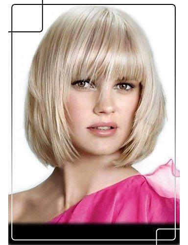 Pelucas de la manera conveniente y cómodo precioso peinado celebridad remy pelucas de cabello superior sin