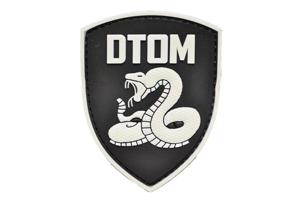 PVC hat DTOM Cobra Emblem Patch Klettverschluss mit Helle schwarz und weiß