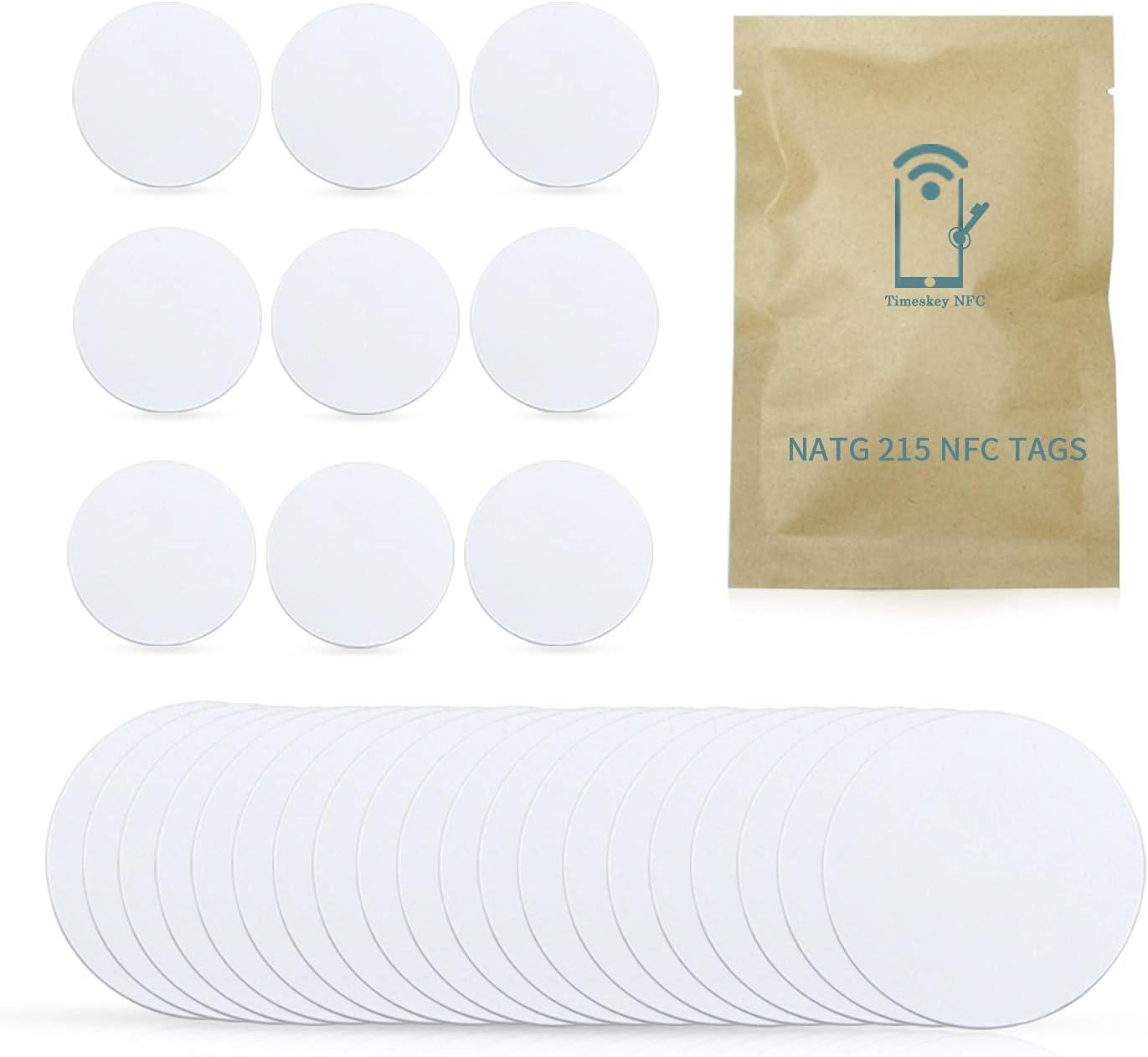 Carte NFC NTAG215 Les /étiquettes NFC Youmile 45PCS NTAG215 25mm NFC fonctionnent parfaitement avec TagMo Amiibo pour tous les smartphones et appareils compatibles NFC